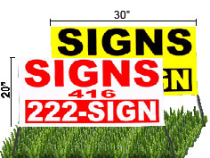 32x20 Lawn Sign