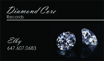 Diamond Core Records Business Cards