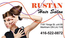 Rustan Hair Salon Business Cards