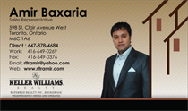 Amir Baxaria Sales Representative Business Cards