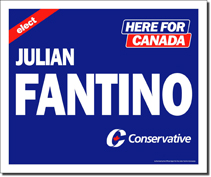 Political Election Campaign Signs In Toronto Canada