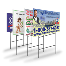 Full Colour Coroplast Pole Sign