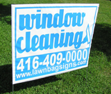 Low Resolution 1 Colour Print lawn Sign