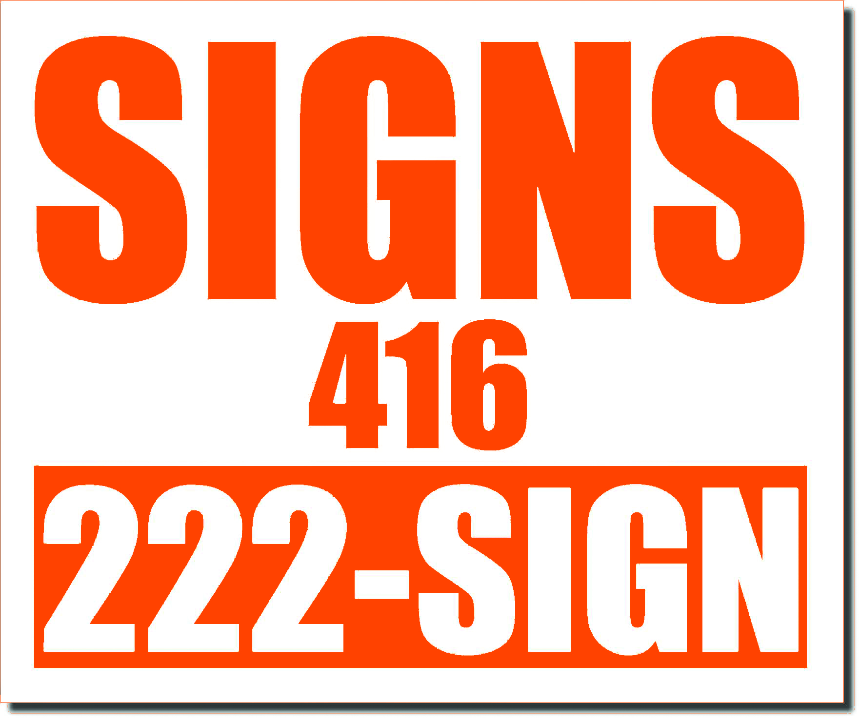 24x20 Renegade Satin CMS Orange 021C Color Lawn Bag Signs Print Colour