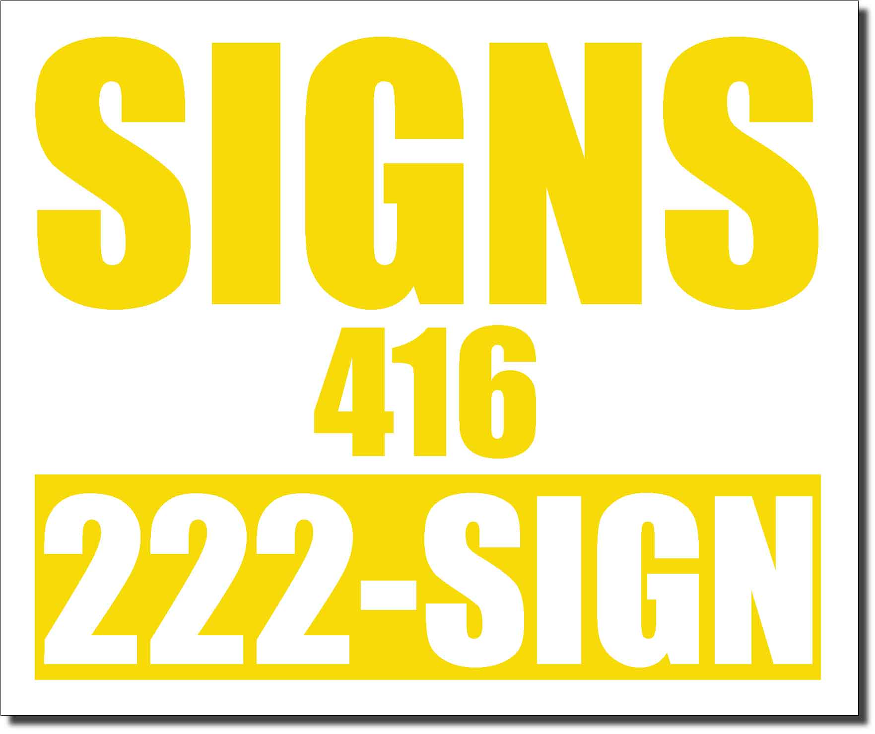 24x20 Renegade Satin Lemon Yellow 012C Color Lawn Bag Signs Print Colour