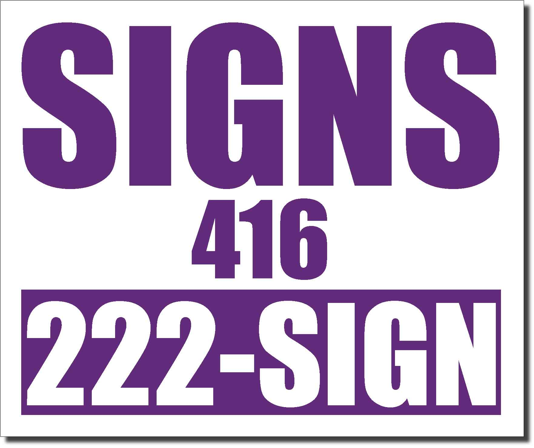24x20 Renegade Satin Purple 526C Color Lawn Bag Signs Print Colour