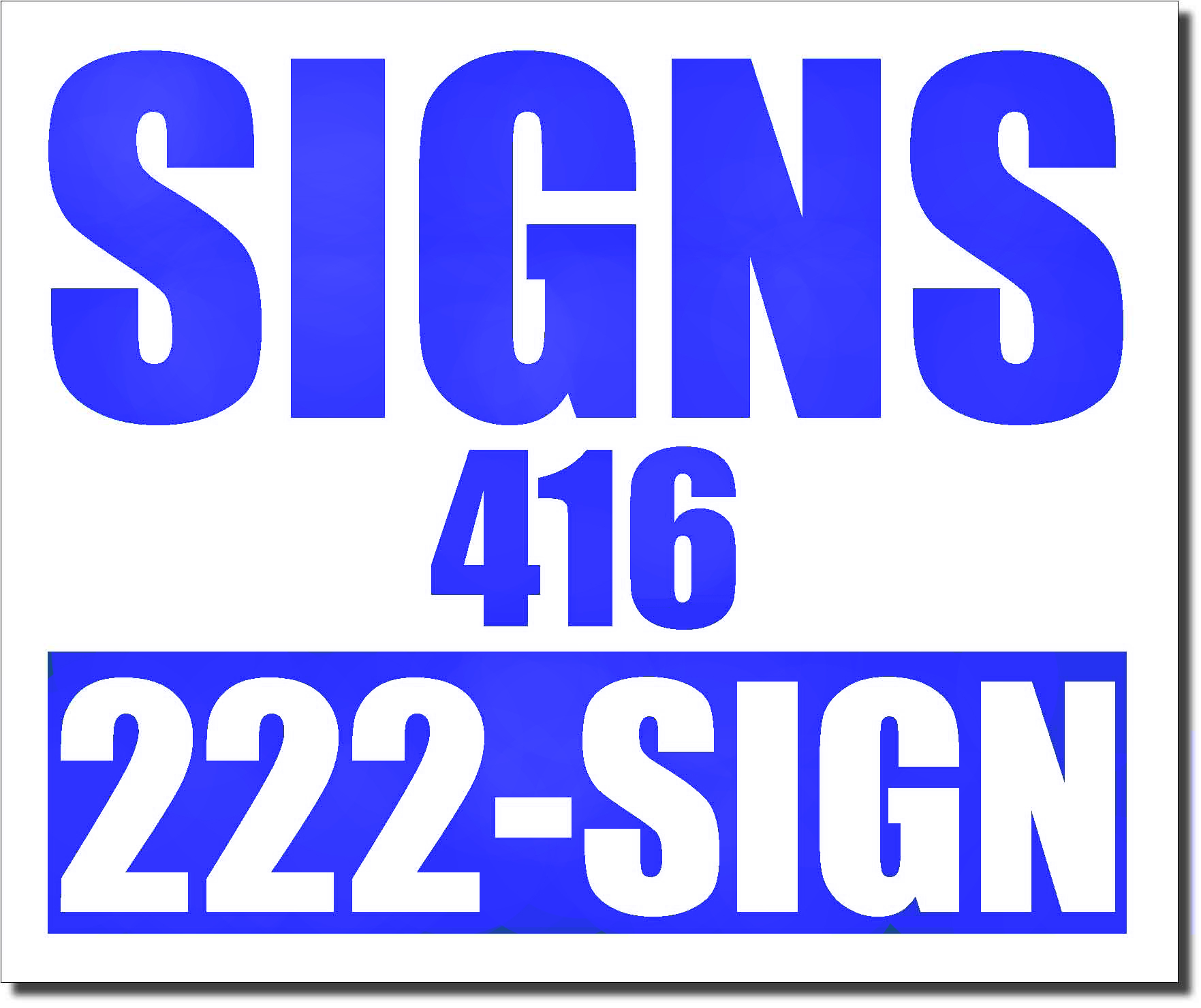 24x20 Renegade Satin Reflex Blue 286C Color Lawn Bag Signs Print Colour