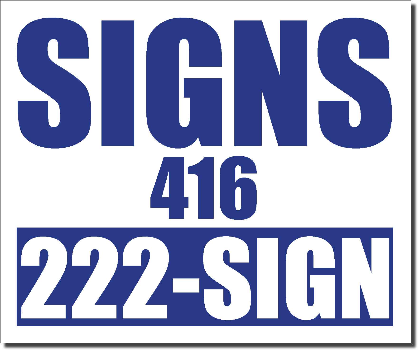 24x20 Renegade Satin Royal Blue 2746C Color Lawn Bag Signs Print Colour