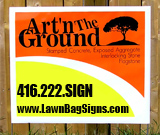 Art 'n The Ground Bag Sign