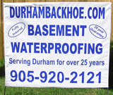 Basement Waterproofing Bag Signs