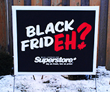 Black Friday Lawn Sign