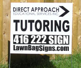 Direct Approach Tutoring Lawn Sign