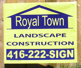 Landscape Construction Lawn Signs